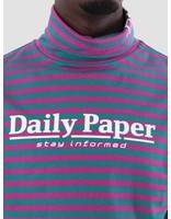 Daily Paper Daily Paper Dabu Longsleeve Dark Petrol Dark Pink Stripe 18F1TL21