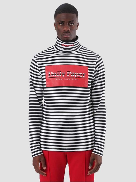 Daily Paper Darly Longsleeve Black White Stripe 18F1TL22