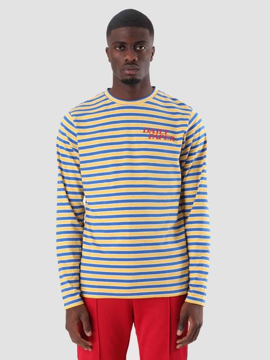 Daily Paper Daso Longsleeve Yellow Cobalt White Stripe 18F1TL18
