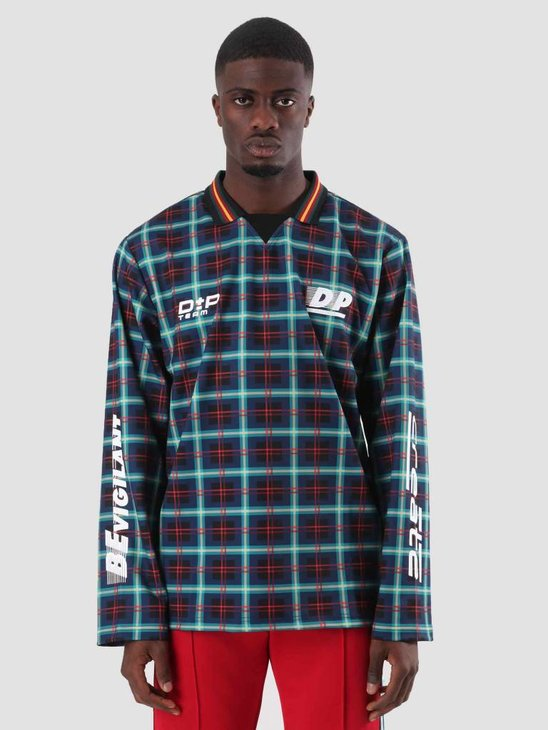 Daily Paper Dedde Longsleeve Black Blue Red Check 18F1TL03