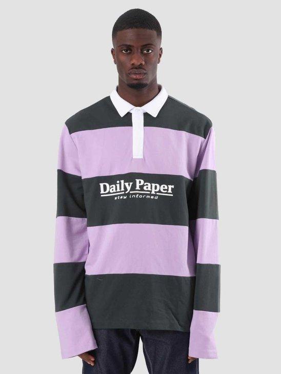 Daily Paper Droke Longsleeve Dark Green Lilac Stripe 18F1TL07