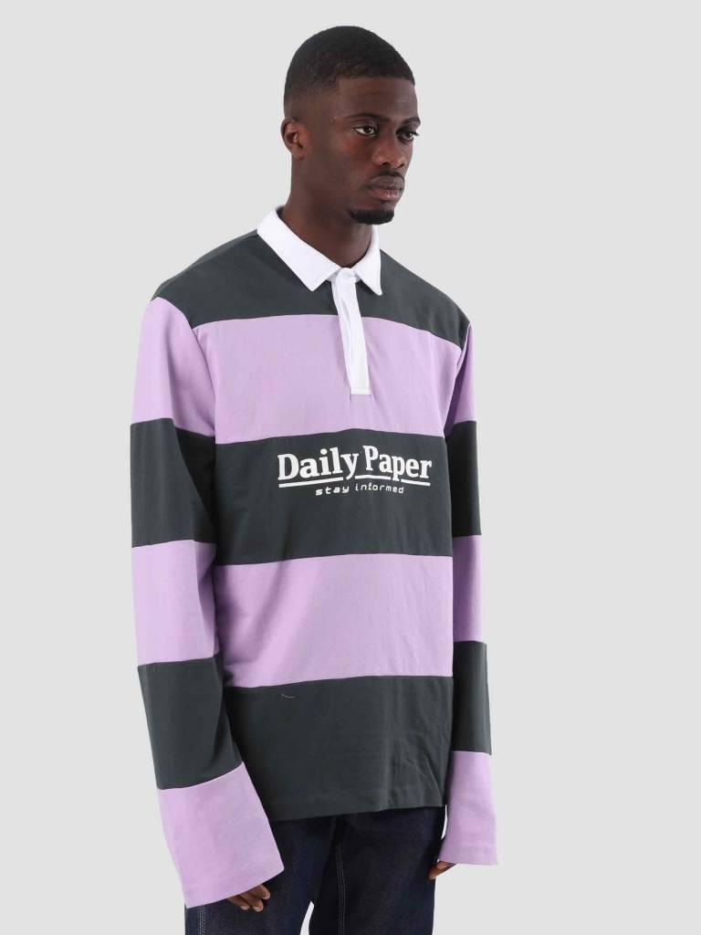 Daily Paper Daily Paper Droke Longsleeve Dark Green Lilac Stripe 18F1TL07