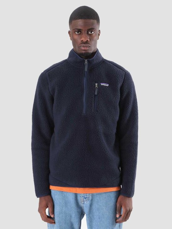 Patagonia Retro Pile Pull Over Navy Blue 22810
