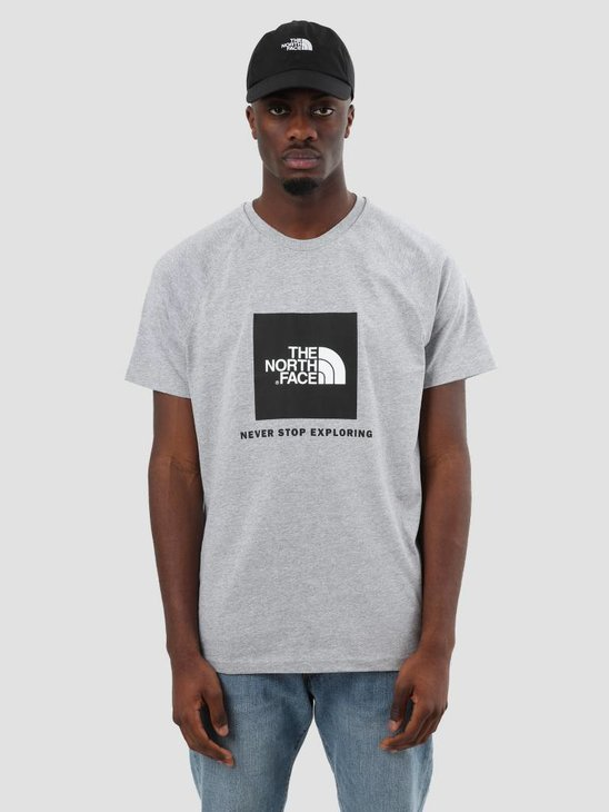 The North Face Rag Red Box T-Shirt TNF Light Grey T93BQODYX