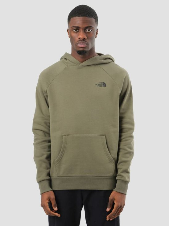 The North Face Raglan Red Box Hoodie New Taupe Green T92ZWU21L
