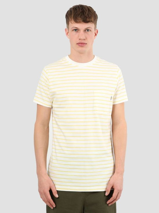 Wemoto Blake Stripe T-Shirt Offwhite Yellow 111.224-232
