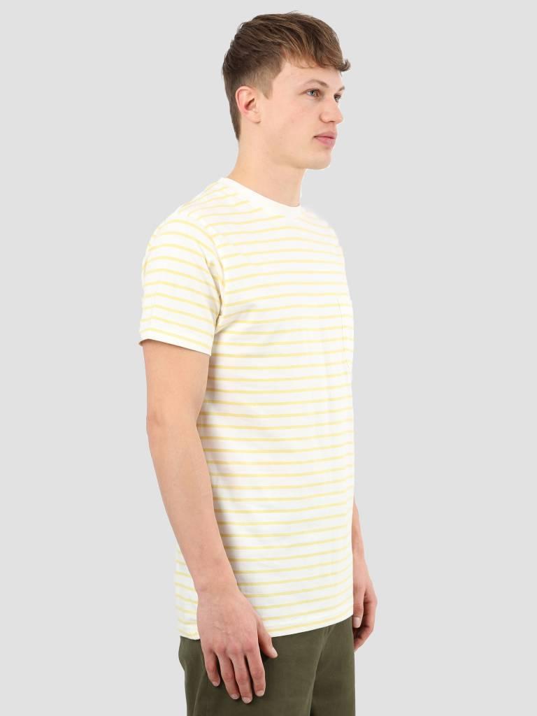 Wemoto Wemoto Blake Stripe T-Shirt Offwhite Yellow 111.224-232