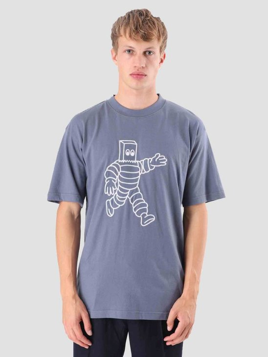 Wemoto Run T-Shirt Faded Blue 121.238-477