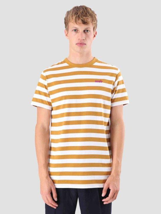 Wemoto Script T-Shirt Golden Mustard-White 121.239-840