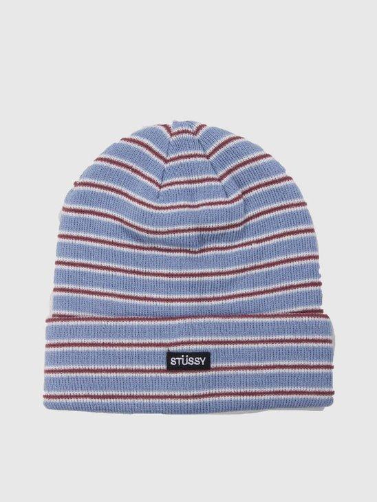 Stussy Striped Fa18 Cuff Beanie Blue 0801