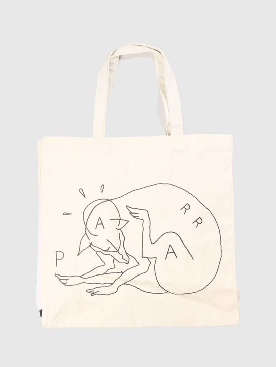 By Parra Scratch Dog Tote Bag Natural 41760