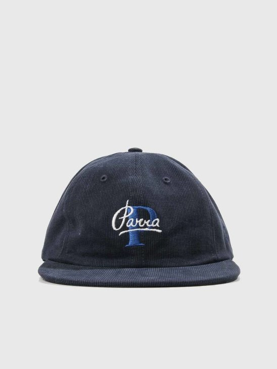 By Parra Painterly Script 6 Panel Hat Navy Blue 41810