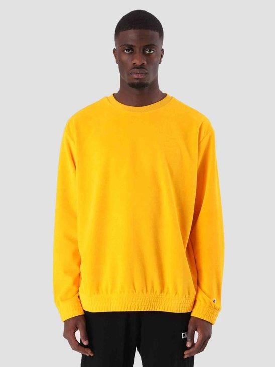 Champion Crewneck Sweatshirt Yellow CUY YS026 212395