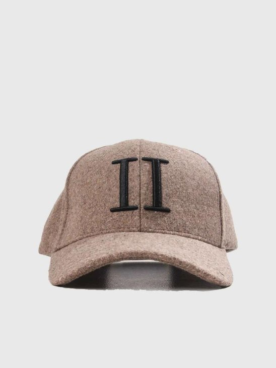 Les Deux Wool ll Baseball Cap Light Brown Black LDM702013
