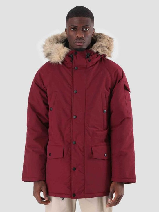 Carhartt WIP Anchorage Parka Mulberry Black I000728-88400