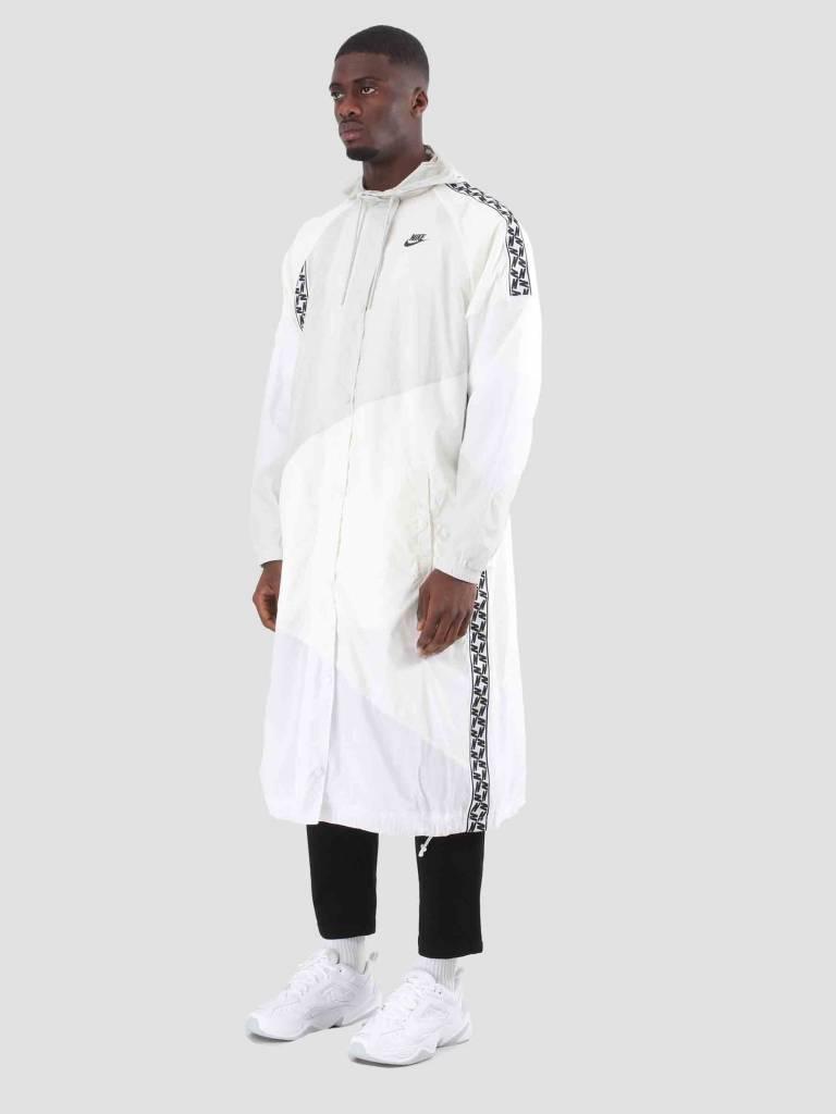 Nike Nike Nsw Taped Woven Long Jacket Sail White Light Bone Black AR4943-133