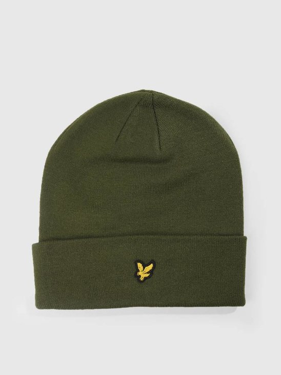 Lyle and Scott Beanie Woodland Green HE960A