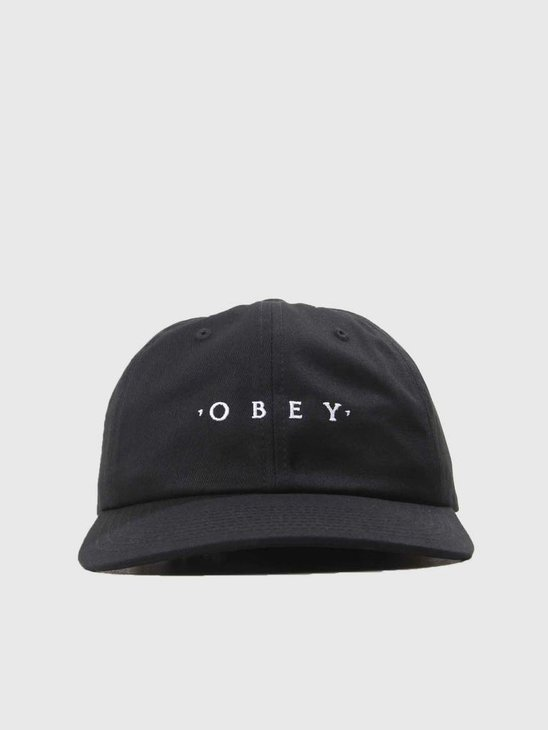 Obey Intention 6 Panel Snapback Black 100580150