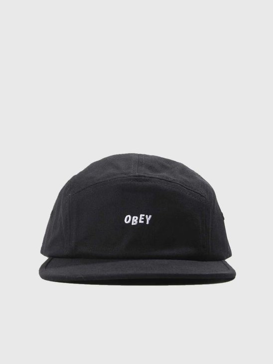 Obey Jumble Bar II 5 Panel Hat Black 100490049