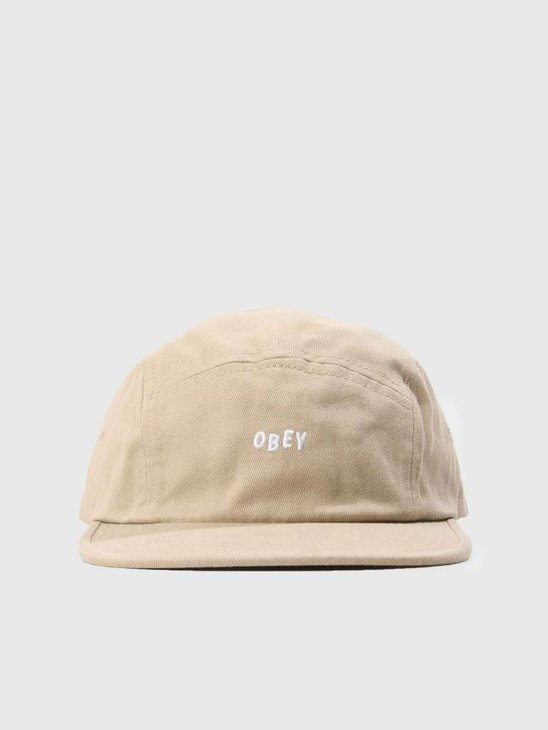 Obey Jumble Bar II 5 Panel Hat Dark Khaki 100490049