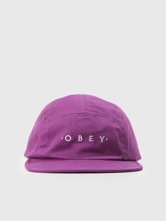 Obey Union 5 Panel Hat Plum 100490051