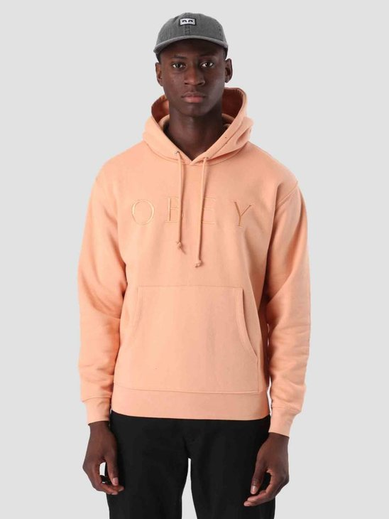 Obey Construct Hoodie Dusty Coral 112470028