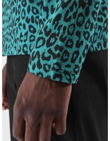 Obey Obey Gimme Classic Polo Longsleeve Teal Leopard 131040016