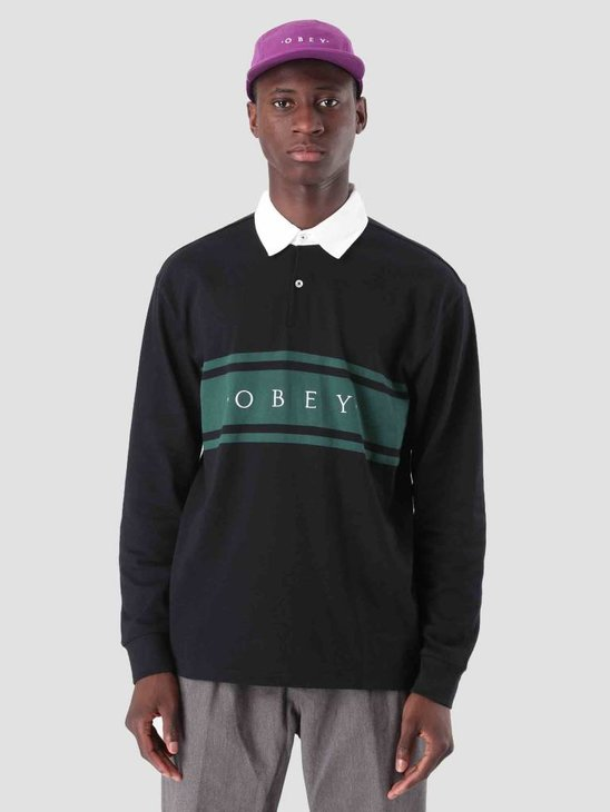 Obey Hero Classic Polo Longsleeve Black 131040013
