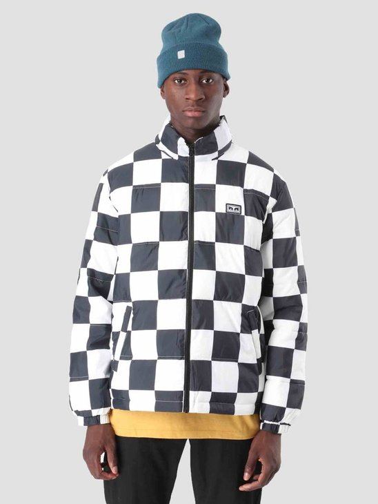 Obey Bouncer Puffer Jacket Checker 121800336