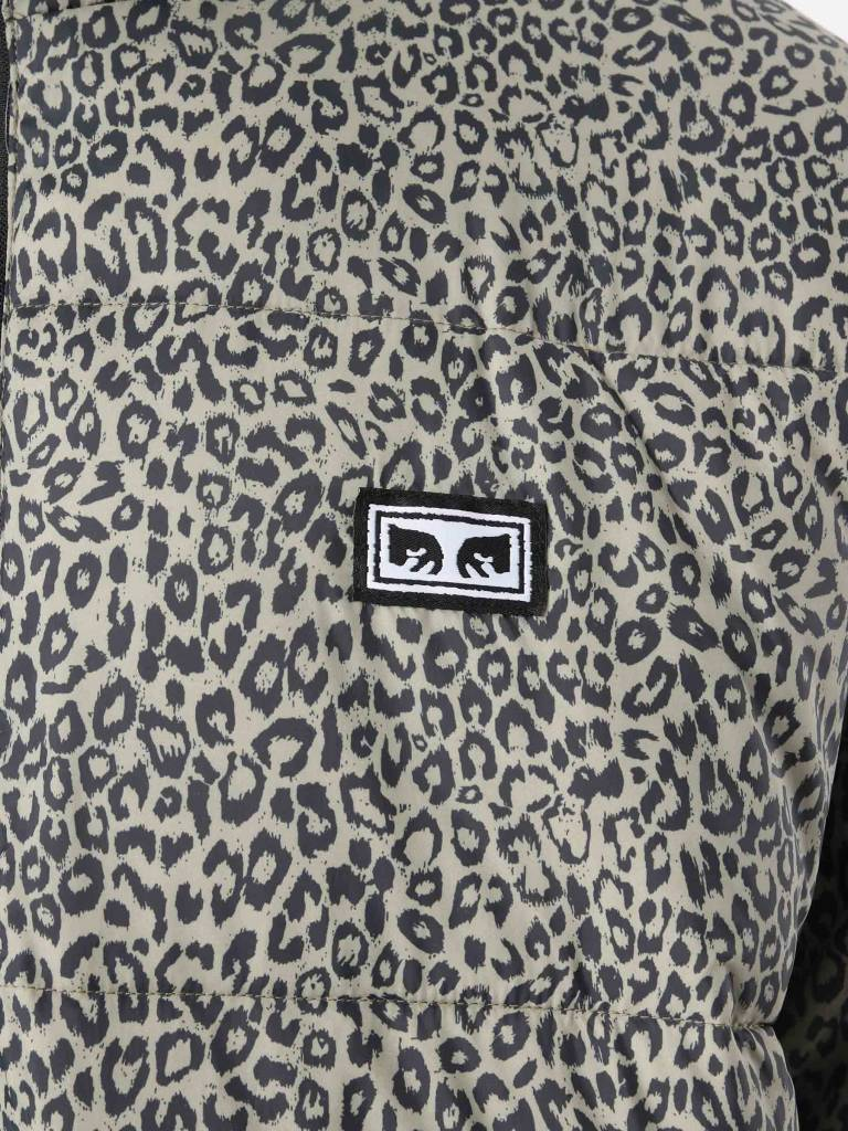 Obey Obey Bouncer Puffer Jacket Khaki Leopard 121800336