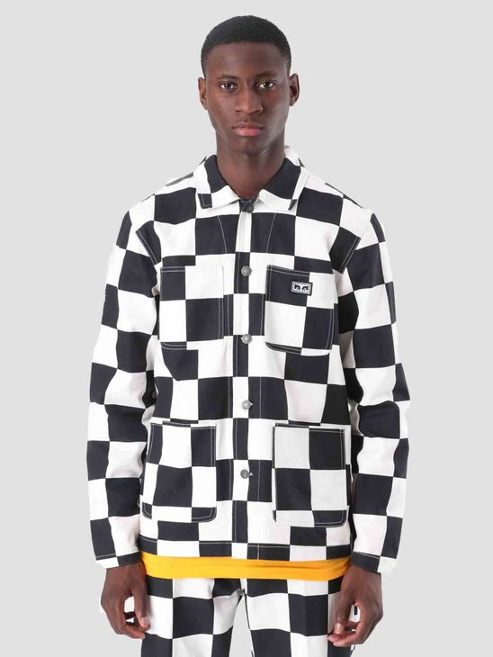 Obey Hard Work Labor Jacket Checker 121800351
