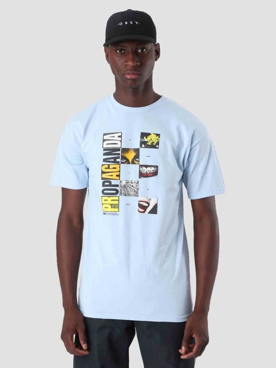 Obey Medium Is The Message T-Shirt Powder Blue 163081796