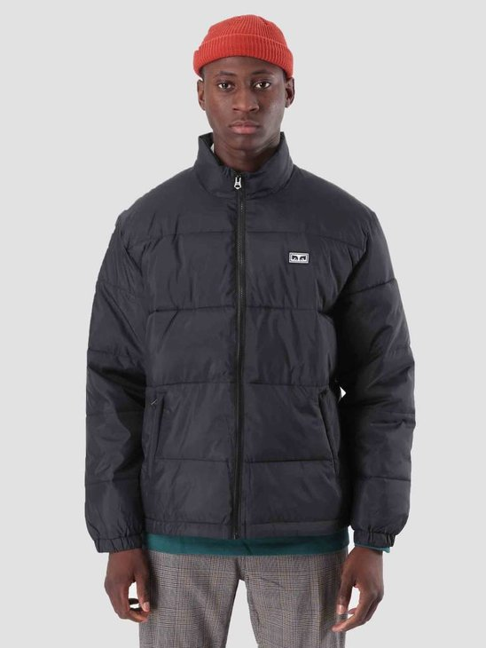 Obey Bouncer Puffer Jacket Black 121800336