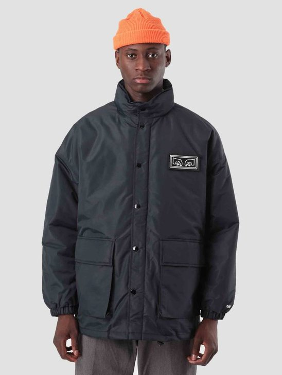 Obey Derby Box Parka Black 121800339