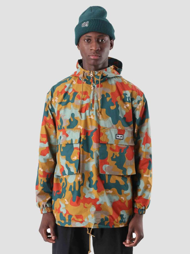 Obey Obey Lock Down Anorak Drip Camo 121800344
