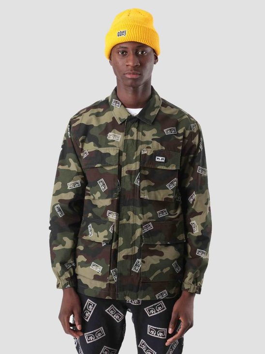 Obey Rise Up Bdu Jacket Eyes Field Camo 121800341