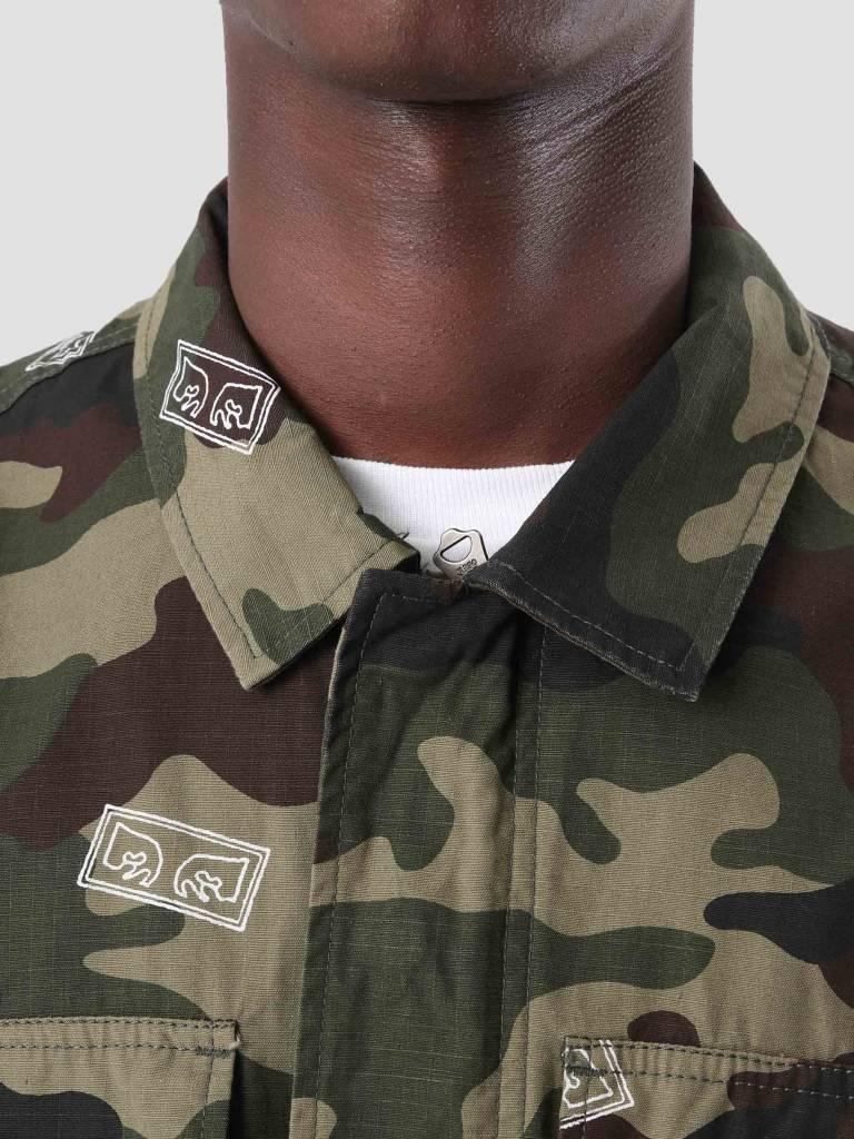 Obey Obey Rise Up Bdu Jacket Eyes Field Camo 121800341