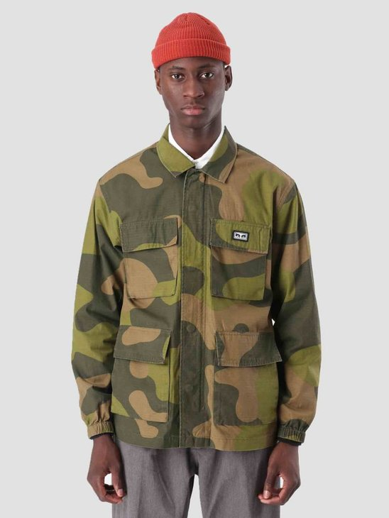 Obey Rise Up Bdu Jacket Oversize Camo 121800341