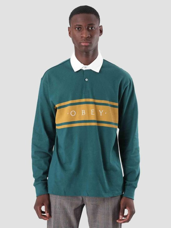 Obey Hero Classic Polo Longsleeve Dark Teal 131040013