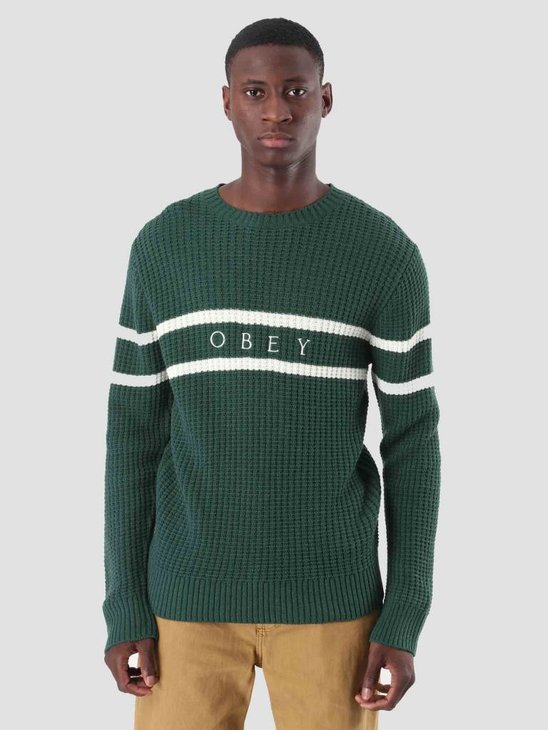 Obey Roebling Sweater T-Shirt Dark Teal Multi 151000041