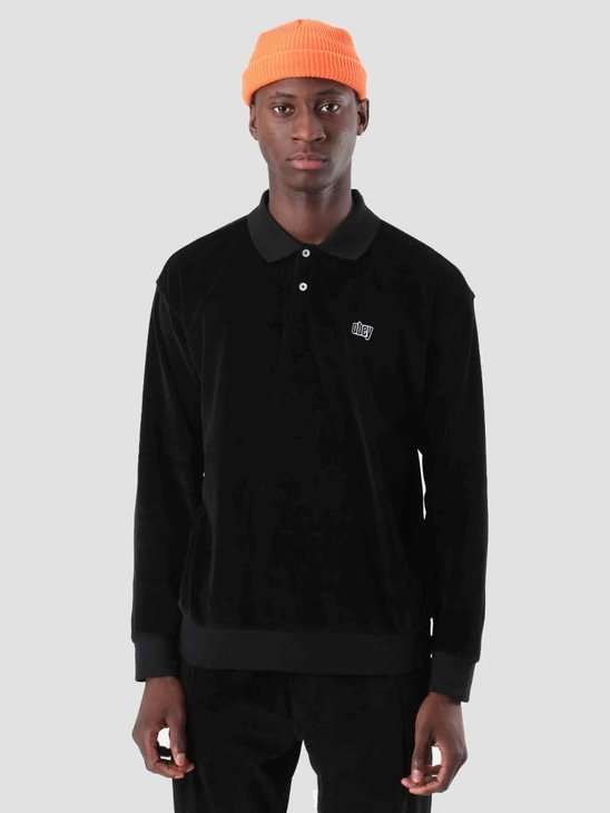 Obey Saucer Polo Black 111620037