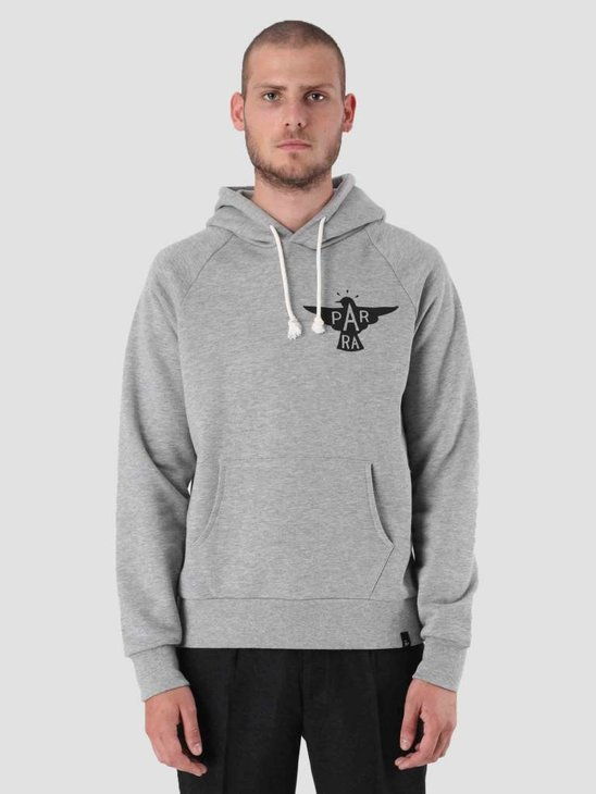 By Parra Jackdaw Logo Hoodie Heather Grey 41700