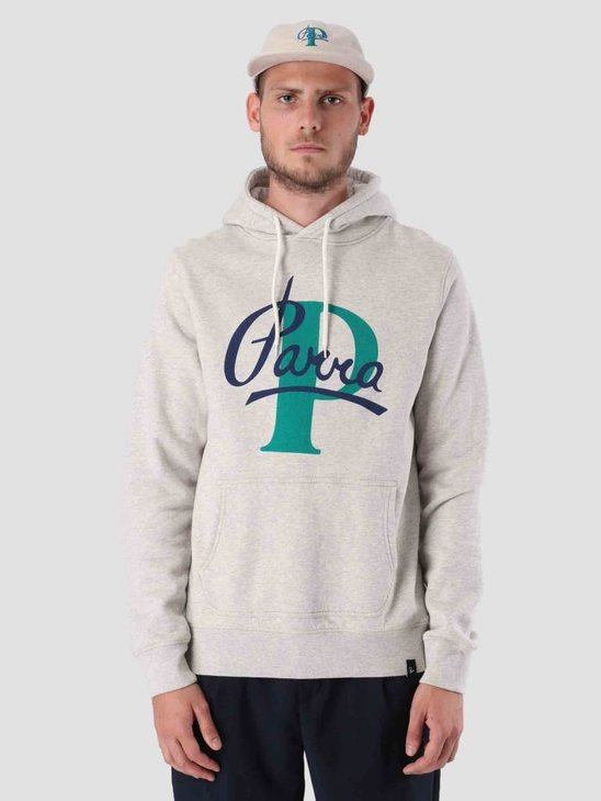 By Parra Painterly Script Hoodie Oatmeal 41800