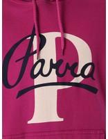 By Parra By Parra Painterly Script Hoodie Purplepink 41790