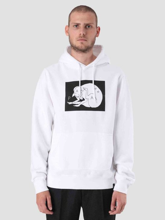 By Parra Scratch Dog Hoodie White 41750