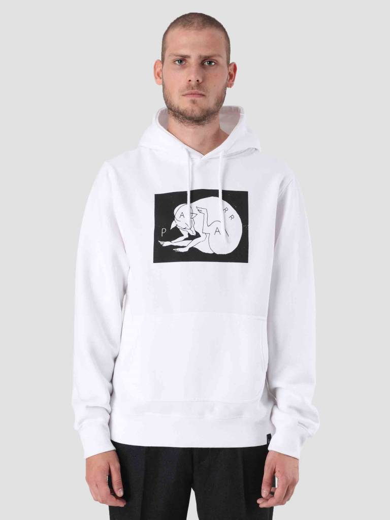 By Parra By Parra Scratch Dog Hoodie White 41750