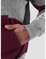 By Parra By Parra Wavey Stripes Hooded Vest Heather Grey - Deep Purple 41610