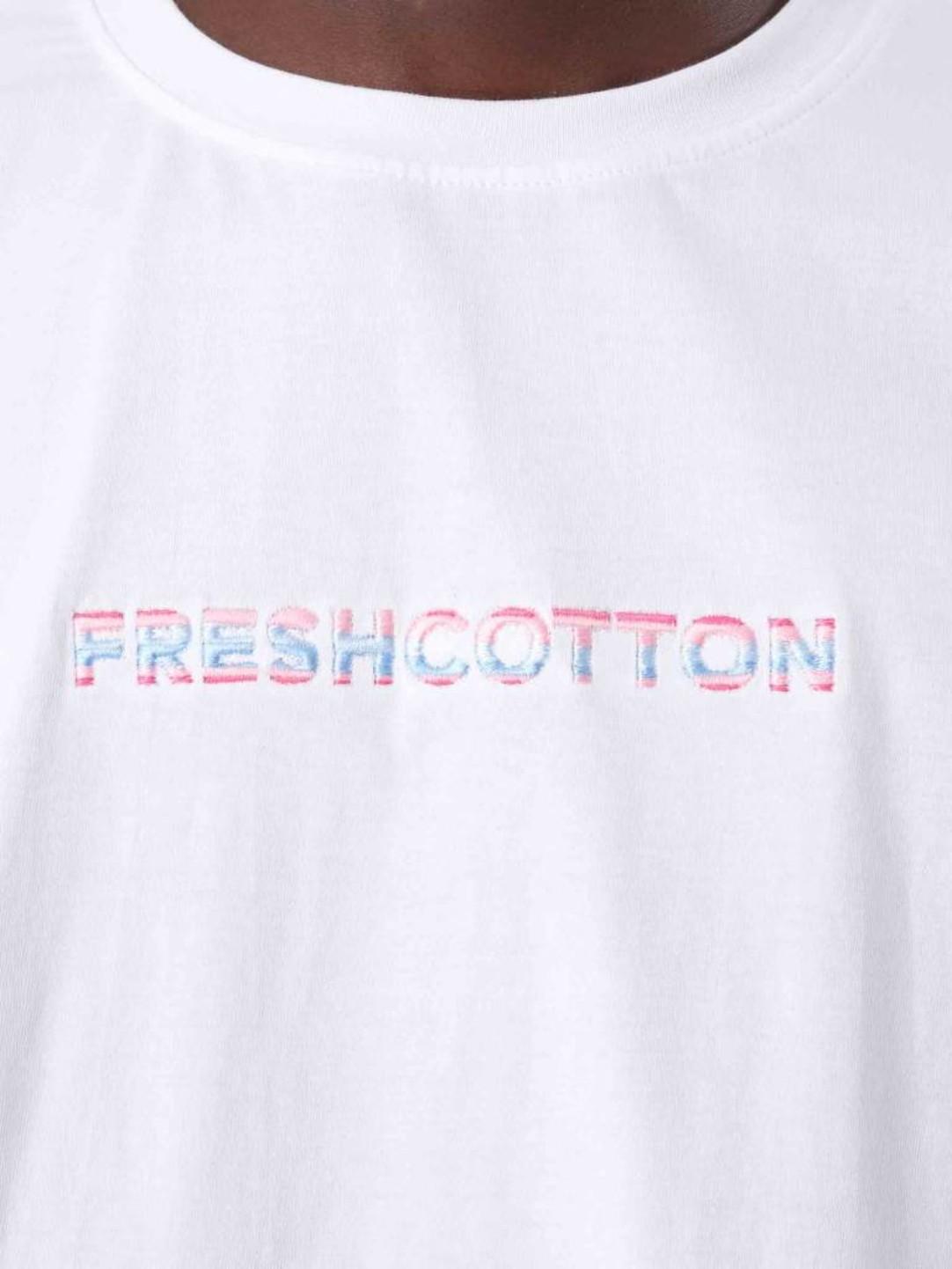 FRESHCOTTON FreshCotton Embroidery T-Shirt White