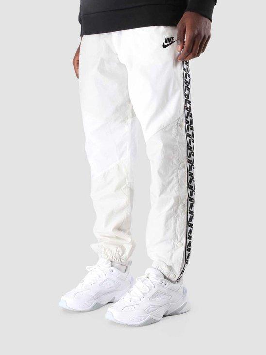 Nike Nsw Taped Woven Pant Sail White Light Bone Black AR4942-133