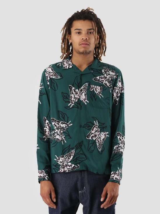Stussy Butterfly Shirt Pine 0460